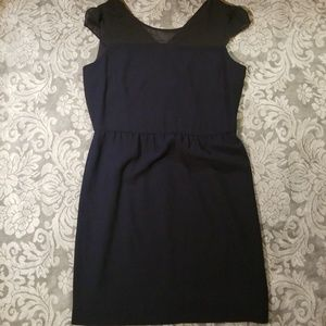 NWOT Andrew Marc blue and black dress